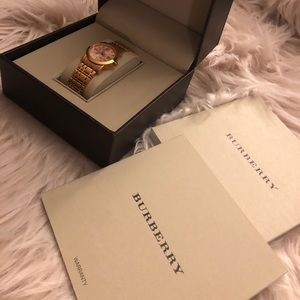 Rose Gold Tone Burberry Watch